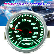 2and039and039 52mm Green Led Turbo Boost Universal Gauge Meter Psi Dials Face Vaccum