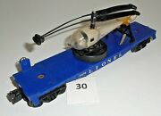 Vintage Lionel 3419 Helicopter Remote Launching Car And Original Navy Helicopter