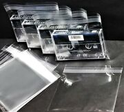 Cassette Tape Outer Sleeves Resealable Plastic Horizontal 25 50 100 200 300 1000