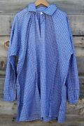 Civil War Cotton Blue Checkered Shirt With Pewter Buttons Large