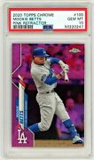 Mookie Betts 2020 Topps Chrome Pink Refractor Psa 10 Dodgers Low Pop Rare