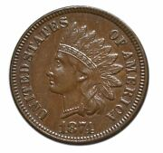 1874 Indian Head Cent Coin Full Liberty