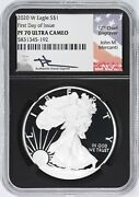 2020 W Silver Eagle Ngc Pf70 Uc First Day Issue - Retro Core Mercanti 192