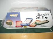 Stackable Coin Storage Trays Pennies Nickels Dimes Quarters With Wrappers New