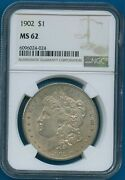 1902 P Ngc Ms62 Morgan Silver Dollar 1 Rare Date Us Mint Coin 1902-p Ms-62