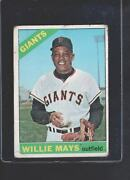 1966 Topps 1 Willie Mays San Francisco Giants Good