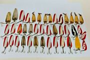 Large Lot Of Vintage Fishing Lures Nebco Gypsy King Hot Rod South Bend 41 Pieces