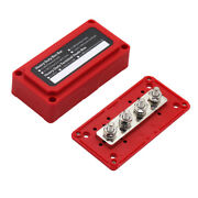 4xm8 Fishing Battery Switches Busbars Post Bus Bar Red For Vehicles Rv Boat 48v