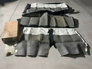 1955-1956 Chevrolet 2-door Sedan Nors Seat Cover Set Black And White 1 Pc Missing