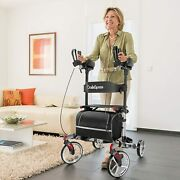 Oasisspace Upright Walker - Tall Walker With 10andrdquo Front Wheels Silver