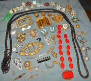 Large Lot And Variety Antique And Older Vintage Repair Part Jewelry Items