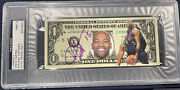 1/1 Vince Carter 1 Dollar Bill Auto Signed Psa Dna Slabbed Rare Currency