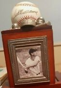 Ted Williams Autographed Ball C.o.a. And Historic Lumber 55/75