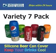 Variety 7 Pack Beer Can Covers,silicone Sleeve Hide A Beer 12oz