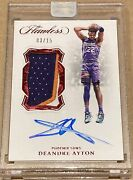 2018-19 Deandre Ayton Flawless Rpa - Rookie Patch Auto Vertical Encased 03/15