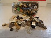 Vintage Button Lot Military Bsa Mother Of Pearl Abalone Unsearched Huge Lot