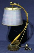 Fishing Pole Table Top Lamp And Shade 23 Tall