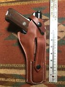 Fit Ruger Mark Mk I Ii Iii 22cal Tanned Leather Holster W/ Magazine Pouch 5 1/2