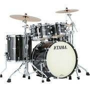 Tama Starclassic Maple 4-piece Shell Pack 22 Bass Drum Blk Clouds/silver Lining