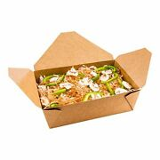 Bio Tek 71 Ounce Paper Take Out Boxes 200 Greaseproof Take Out Food Container...