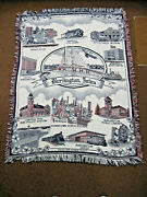 66 Long X 50 Wide Red White Blue Burlington Ia Throw Blanket Des Moines County