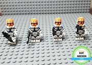 Lego Star Wars 332nd 501st Phase 2 Clone Trooper Custom Lot Of 4 For Mocs