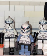 Lego Star Wars Custom Phase 1 Wolf Pack Clones Lot Of 3