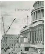 1958 Press Photo Scaffolding Covers The Capitol In Extensive Rebuilding Program