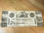 Original Chesapeake And Ohio Canal Co Currency 5 Dollars Dec 9 1840-1841 N0 823
