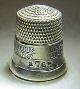 286 Liberty Bell Sterling Silver Thimble - Simons Bros Co Size Unk