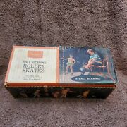 Sears Vintage Girl Woman Boy Men Roller Skates In Box New Old Stock Never Used
