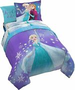 Disney Frozen Elsa And Anna Full Comforter, Sheets And Shams 7pc Bed In A Bag