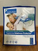 Healthy Sleep-supreme Mattress Protector-fitted Sheet Style-queen Size-brand New