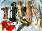 Lot Vintage Pre 1967 Barbie Dolls And Clothing Country Club Dance+ Lot C
