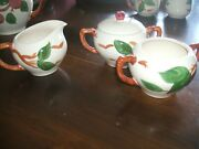 Franciscan Apple Cream And Suger Set W/lid And Extra Sugar Bowl