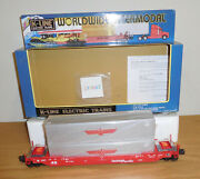 K-line Southern Pacific Husky Stack Train Car Intermodal Apl Containers O Scale