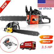 3.5hp 20 Inch Guide Board Chainsaw Gasoline Powered Handheld Chain Saw 62cc