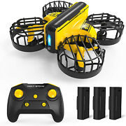 Hs450 Rc Mini Drone Remote Control Quadcopters 3 Batteries Hand Operated Kids