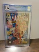 New Mutants 98. Cgc 9.6. White Pages. 1st Deadpool.