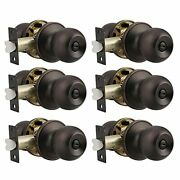 Probrico Ball Privacy Door Knobs Bed And Bath Keyless Handles Locksets, Oil Rubb