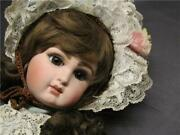 Gautier Fg Scroll Brown Eye Antique Bisque Doll Vintage Doll Shipping From Japan