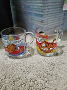Mcdonald's Garfield Collection Glasses - 1978 Lot Of 2
