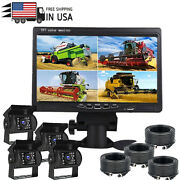 4 Ch 7 Monitor Truck Tractor Reversing Security System 4x Rear View Camera Kit