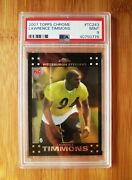 2007 Topps Chrome 243 Lawrence Timmons Rookie Psa 9 Mint