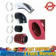 Universal 3.5 Cold Air Intake Systems Pipe Kit W/ Filter For Gm Ls1 Lsx Lmx Lq