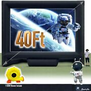 Sewinfla 40ft Giant Inflatable Movie Screen Outdoor - Portable Blow Up Projector