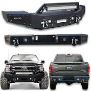 Fit 2018-2020 F150 New Classic Textured Black Front Or Rear Bumper W/led Lights
