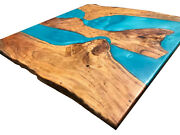 Acacia Dining Tables Epoxy Table Blue Resin River Table Decors Made To Order