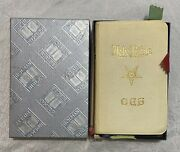 Vintage Holman Holy Bible Order Of The Eastern Star Cover - Masonic - In Box