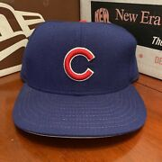 Nos Nwt Vintage 90s Chicago Cubs New Era Diamond Collection Fitted Size 7 3/8